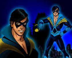 Retro Nightwing 1980's by bat123spider