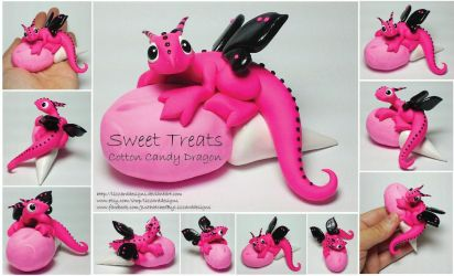 Sweet Treat Cotton Candy Dragon by lizzarddesigns