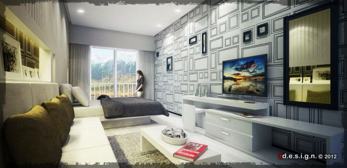 Bedroom_1 interior concept by Zorrodesign