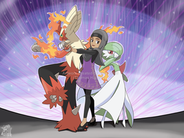 Commission - Samah's Pokemon Team by Tails19950