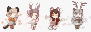 50pt Chibi Kemonomimi Adopts [2/4 OPEN] by alliemews
