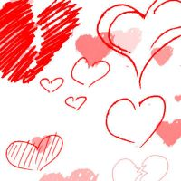 Hearts Photoshop Brushes by Sunira
