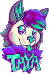 Commission Taya Badge by Contugeo