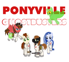Commission: Ponyville Ghostbusters Poster by meganschmidt