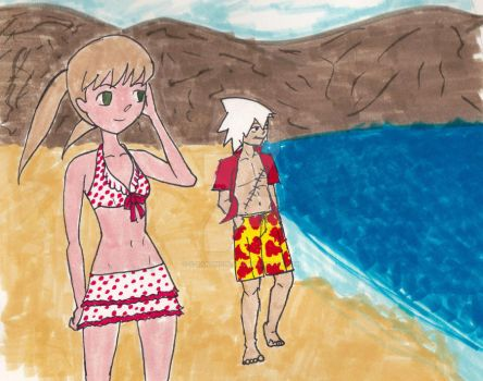 Soul Eater: At ze Beach by S-Ranunculus
