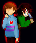 Frisk and Chara by graphite-demon-99