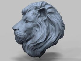 Lion Head by nachoriesco