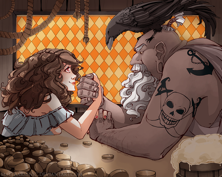 Arm wrestling by MaterArsenic