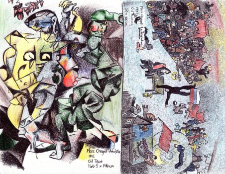 Illustrated biography: Marc Chagall (pt. 3) by Trylledrik
