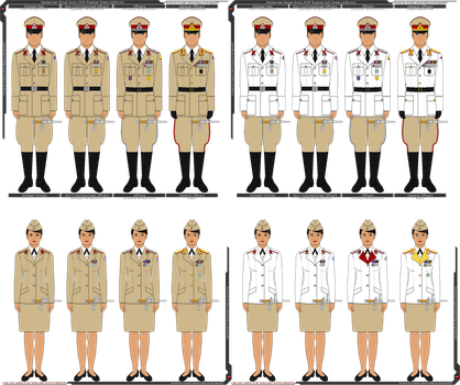 Panterria - Royal Army M39 Tropical Dress Uniforms by Grand-Lobster-King