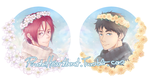 Sousuke + Rin Birthday Artworks by PirateHeartbeat