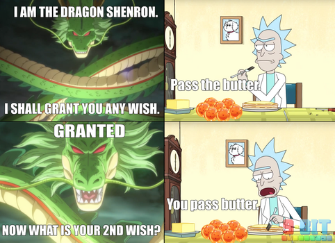 Shenron Grants Passing Butter by PxlCobit