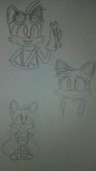 Tails Sketches by ChibiAsh07