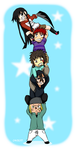Piggyback Chibi (color+fond) by tahonard