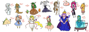 Adventure Time Princesses by DinoTurtle