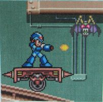 Mega Man X Square for SS 2014 Charity Quilt by Lileya-Celestie