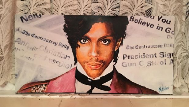 'Prince' 'Controversy' Album Painting by Nickypink09