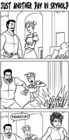 Dragon Age Strips: Just another day in Skyhold by eisu