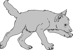 Free Wolf Pup Lineart by toast4nat