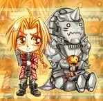 Chibi Elric Brothers by oOFlorianeOo