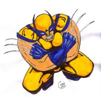 Wolverine - Sharpies and markers by carriehowarth