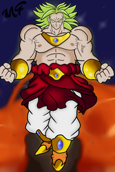 Broly destruction of the planet by manfroste