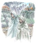 Eula and Beezol in the Rain by hexacosm