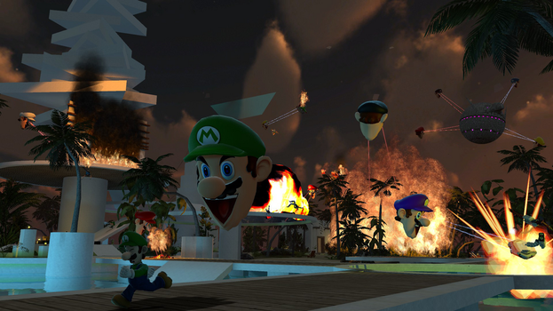 Chaotic SoVeryHappy Mario Head Invasion by BriefCasey795