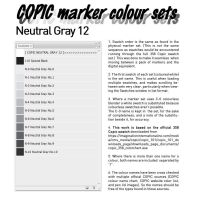 COPIC marker colour set - Neutral Gray12 by d-signer