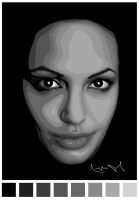 Angelina Jolie Vector by LuigiLA