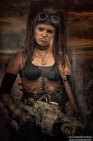 Steampunk rider by Lagueuse