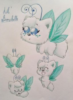 Lil' Snowbelle (Pet Buddy Contest) by Vulpes-lagopus21