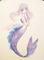 jellyfish mermaid by M-A-S-K-A