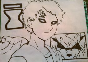 Gaara (Naruto) (Mirrored version) by The-White-Tigress