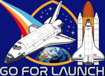 Go For Launch (Space Shuttle) by tygerbug