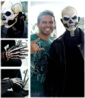 Ghost Rider (finished the makeup process) by Thiago-M