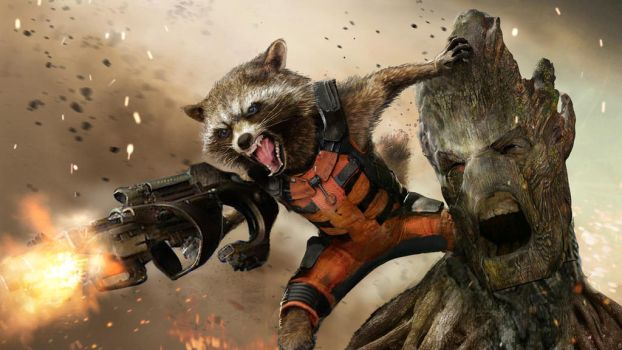 Rocket and Groot by uncannyknack