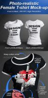 Female T-shirt Mock-up Photorealistic 3D Look by Ondrejvasak