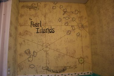 Map wall in le bathroom by Lord-Pruitt