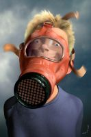 Boy In A Gasmask by boblea
