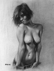 Girl Topless by AATheOne