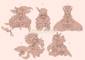 [CLOSED]AUCTION Fantasy girls set2 by WhiteLie-Adopt