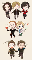 Resident Evil 6 chibis by keterok