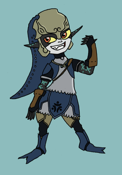 Midna in Zora Armour by beedok