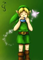 Commission: Link and Navi by Fenrisfang