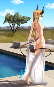 Ara poolside by Arazand