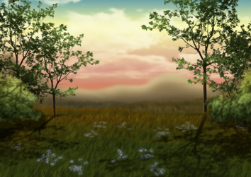 Free Dreamy Dusk Background by SweetLittleVampire