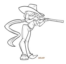 Rifle girl lines by Kravenous