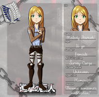 [SNK/AOT] Melody Barnet charactersheet by hyerimarla