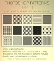 Photoshop Pattern Set 1 - Scan Pattern by NightmareChronicles